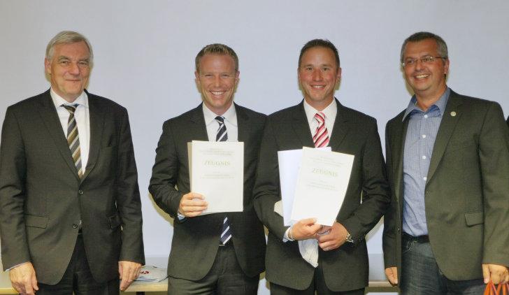 Bünker und Lanfermann erreichen höchste Ausbildungsstufe des DOSB